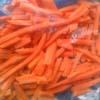 Морковь очищенная нашинкованная (соломкой), в вакууме фас 5-10кг.  Опт и в розницу. Доставка