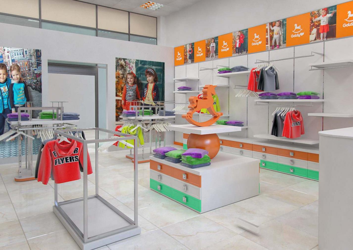 Мебель для магазина детской одежды и обуви