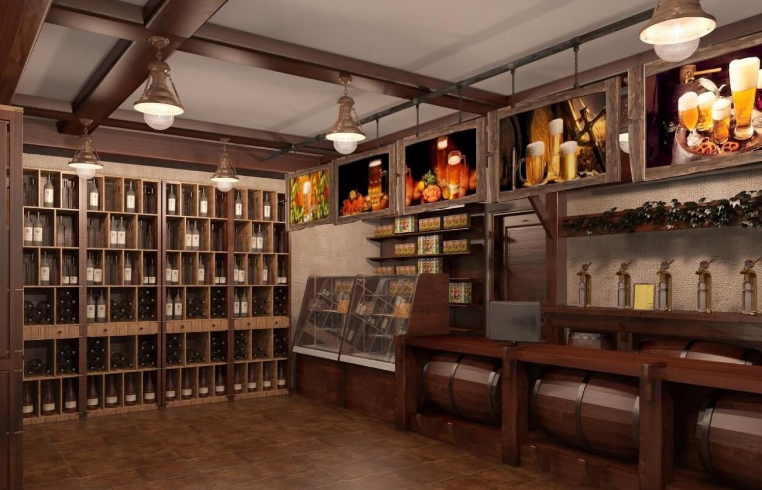 Мебель для магазина пива