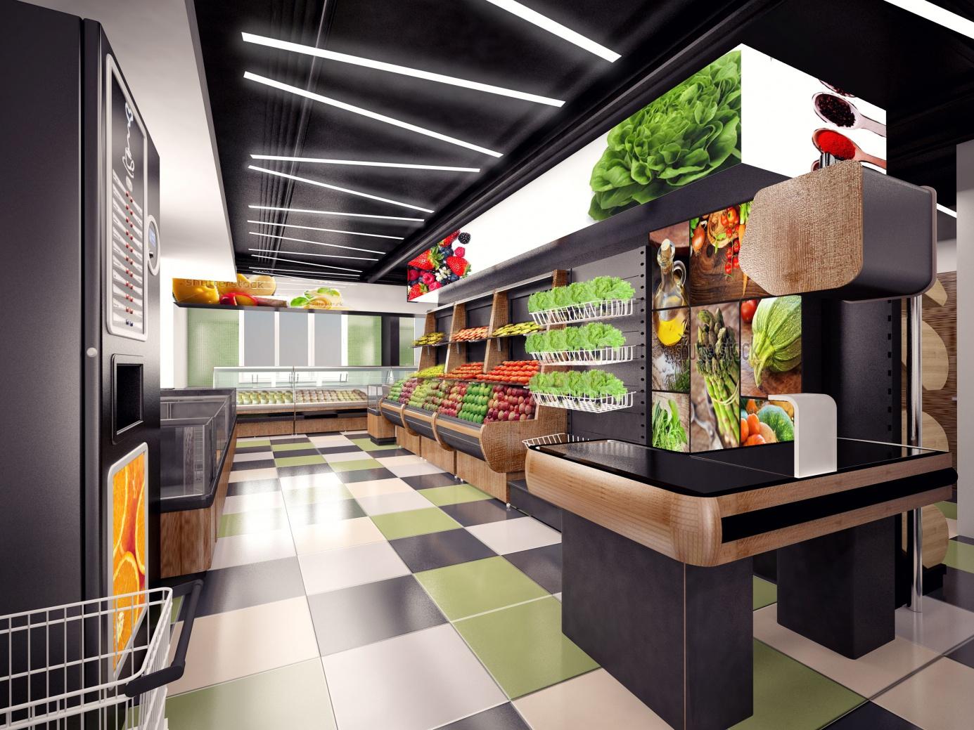 Мебель для продовольственного магазина