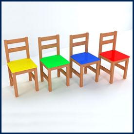 Детские стулья и скамейки для детских садов