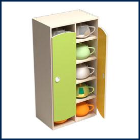 Шкафы и стеллажи для хранения детских горшков в детском саду