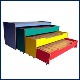 Кроватки для детских садов (одно- и двух-ярусные, выкатные)
