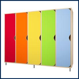Шкафчики для раздевалок и групп в детский сады